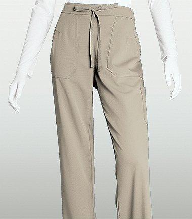 Large Truffles - Grey's Anatomy Women's 4-Pocket Elastic Back Solid Scrub Pant XXXXX-Large Truffle