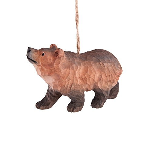 Grizzly Bear Ornament - GGI 4-in. Wood Ornament, Grizzly Bear