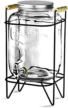 Vintage Drinks Dispenser Yorkshire Weckglas Getr/änkespender mit St/änder 8ltr Weckglas-Getr/änkezufuhr Saftspender Cocktail-Zufuhr bar@drinkstuff getr/änkezufuhrBeverage Dispenser