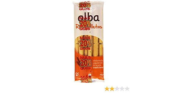 Alba - Rosquilletas - Palitos de pan con aceite de oliva - 70 g: Amazon.es: Alimentación y bebidas