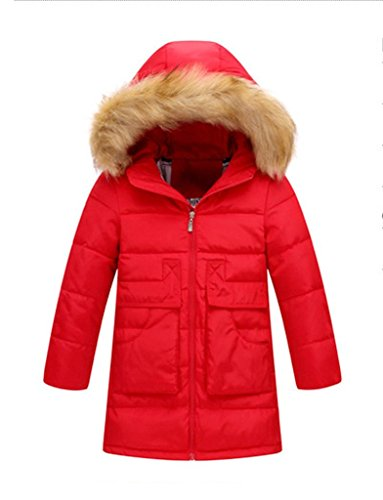 British Red Coat Costume Clothing (Fortuning's JDS Lightweight Down Hooded Cosy Outerwear Coat For Girls)