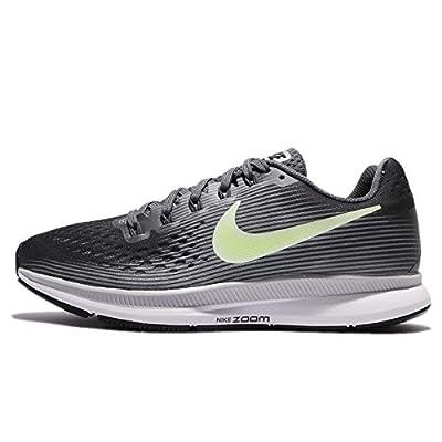 Nike Women's Air Zoom Pegasus 34 Running Shoe Dark Grey/Barely Volt-Wolf Grey 11.0
