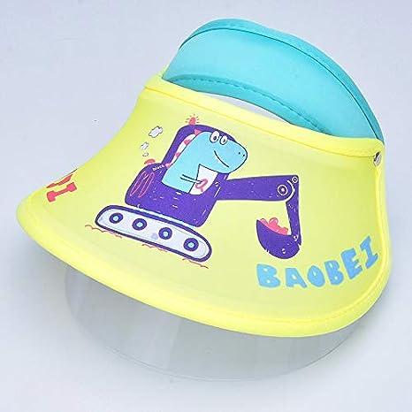 No Logo Tapa Protectora niños, Los Sombreros de Alta definición máscara Transparente, Ajustable del Sombrero de Copa vacía for el Recorrido Inicio antirrociadura