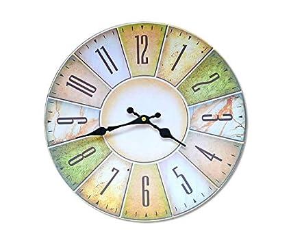 YUNOLL Reloj De Pared Reloj De Pared Creativo \ Nostálgico Pintura Digital Sin Marco Digital MDF