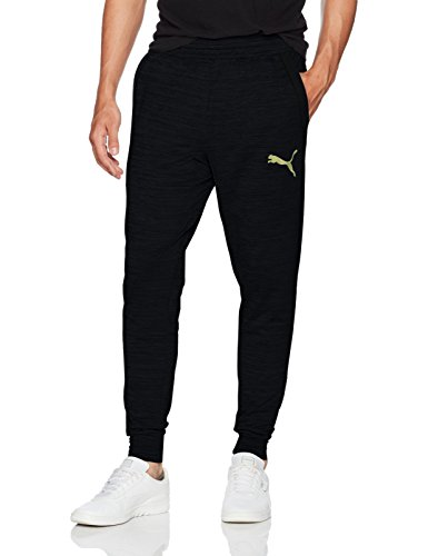 Puma Men's Tech Fleece Trackster Pants, Black, M
