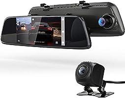 ドライブレコーダー バックミラー型 前後カメラとも170度広角 1080PフルHD 7インチタッチパネル Gセンサー HDR夜視機能/前後録画/駐車補助/駐車監視/エンジン連動/常時録画/ループ録画/取付簡単 デジタルインナーミラー...
