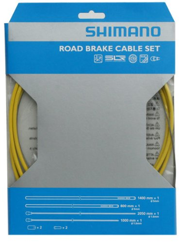 SHIMANO PTFE Road Brake Cable and Housing Set (Yellow) by SHIMANO