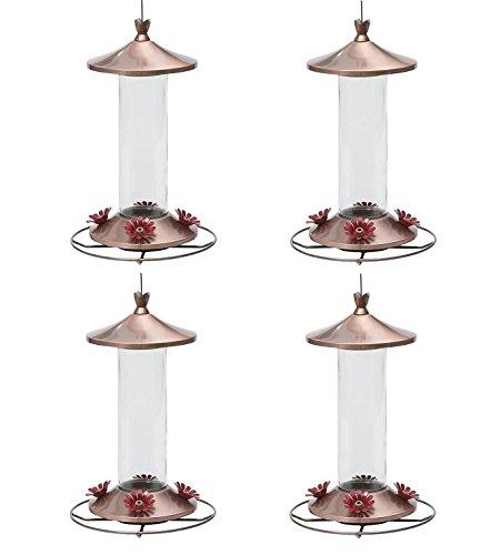 Perky-Pet 710B Elegant Copper Glass Hummingbird Feeder - 12