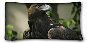 Custom Characteristic Animal Custom Cotton & Polyester Soft Rectangle Pillow Case Cover 20x36 inches (One Side) suitable for King-bed