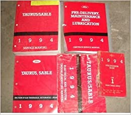 1994 ford taurus mercury sable service shop manual set (service manual,  electrical wiring diagrams manual, specifications manual, pre delivery  inspection