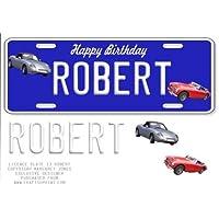 Placa de Matrícula–nombre–Robert por Margaret Jones