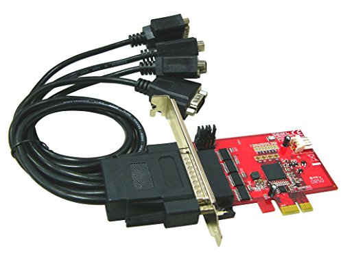 (Ableconn PEX4S-954 4 Port RS232 PCI Express Serial Adapter Card with Power Output and 16950 UART (OXPCIe954 Chipset) - Optional 5V Power Output on Pin9 of DB9)