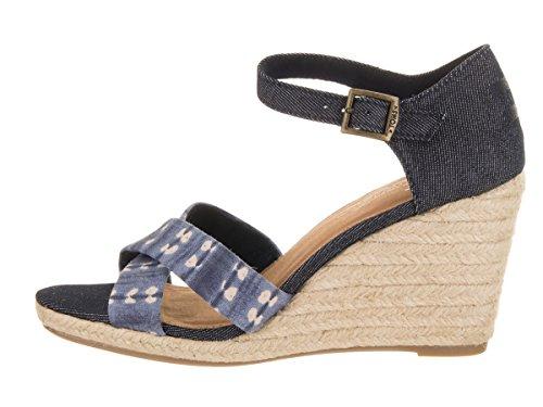 8ad2d2b6b1cd TOMS Womens Black Denim Sienna Wedge Sandals  Amazon.co.uk  Shoes   Bags