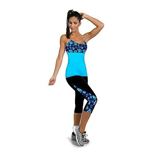 (Realdo Women's Sports Pants,Fitness Yoga Side Printed Stretch Cropped Legging (Black,X-L))