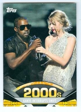 Kanye West and Taylor Swift trading card (2009 MTV VMA) 2011 Topps #196 Autograph Warehouse