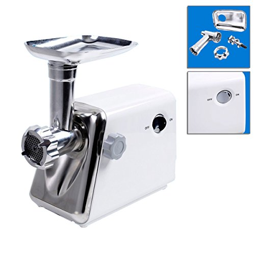 Stainless Steel Electric Meat Grinder 1300Watt Multi-Function Industrial With All Metal Head And Tray TSE110A (Hand Mixer 110v 220v)