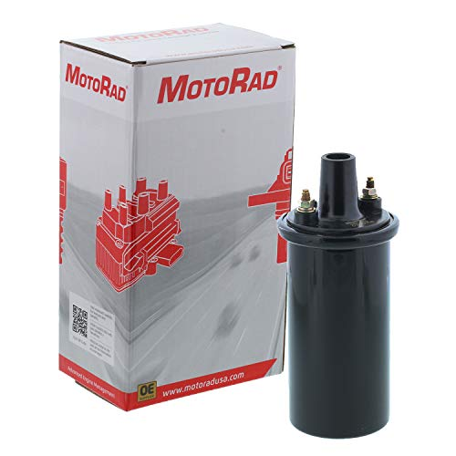 MotoRad 4IC562 Ignition Coil | Fits select Buick Skylark, Cadillac DeVille, Chevrolet Corvette, Impala, Chrysler Town & Country, Dodge Charger, Ford F-100, F-250, F-350, Honda Accord, Toyota - Buick Skylark Pickup Coil