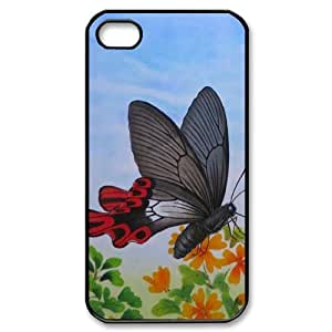 Butterfly New Printed Case for Iphone 4,4S, Unique Design Butterfly Case