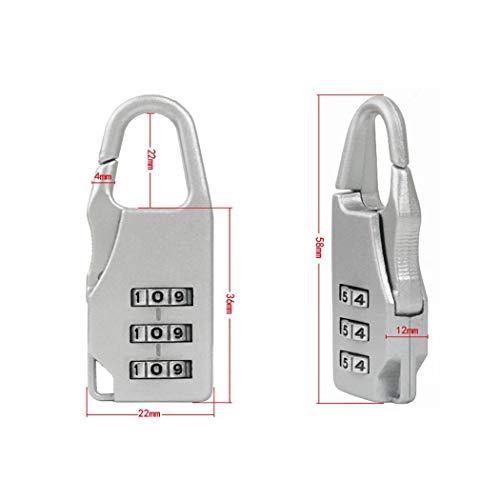 Algern Digit Mini Code Lock Travel Equipaje Combinaci/ón Candado Contrase/ña Bloqueo antirrobo Cerraduras