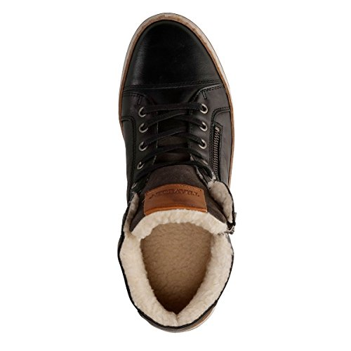 Travelin Nordby Winter Chukka Boots | Schnürhalbschuhe Wolle Gefüttert Herren | Sneakers Men | Freizeitschuhe | Lederschuhe in Grau 46 EU