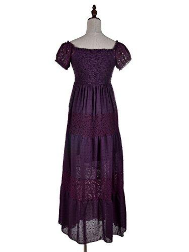 Manches Jupe Longue Uni Anna Robe Courtes kaci Violet Femme Cocktail 8xZwftgn