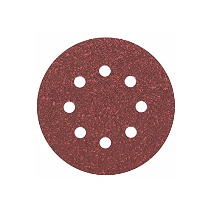 Bosch 2608605643 Disque abrasif pour ponceuse excentrique /Ø 125 mm 8 Trous Grain 120 5 pi/èces