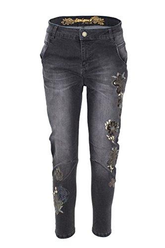 Alysa Jeans Noir Femmes Denim Desigual 18WWDD08 tHwRqvnfUx