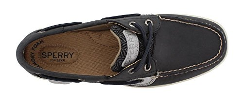 Sperry Top-Sider Frauen Bluefish Bootsschuh Grauschwarz