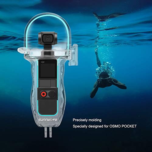 (Forart Diving Waterproof Case Shell Waterproof Housing Shell Case Filter Kit for DJI OSMO Pocket, Underwater Diving Case Protective Cover Accessories)