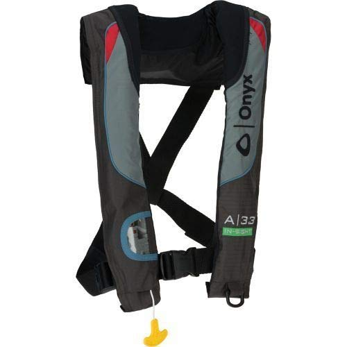 Life Inflatable Vest - Onyx A-33 in-Sight Automatic Inflatable PFD USCG Approved - Fits 32