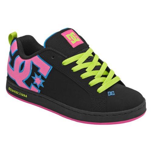 DC Women's Court Graffik Lace-Up Fashion Sneaker,Black Multi,5 M US