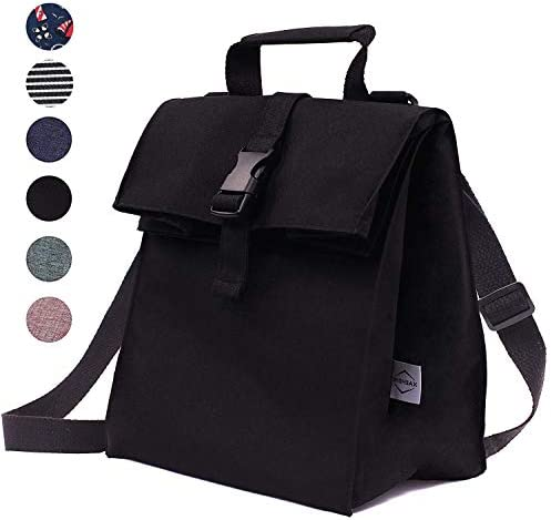 Thermal Insulated Lunch Bag - Reusable Leakproof Cooler for Men Women and Kids - Adjustable Shoulder Strap for Outdoor Activities Work or School