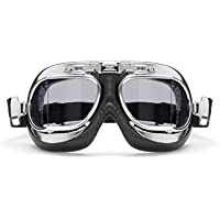 Vintage Motorcycle Goggles with Antifog and Anticrash...