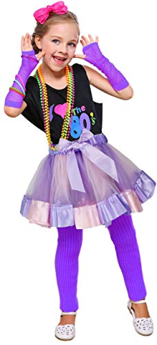 Halloween Pop Stars Costume Ideas (I Love 80s Pop Party Rock Star Child Girl's Costume Accessories Fancy Outfits (8-10,)