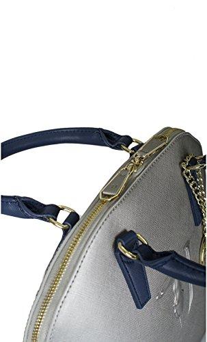 Borsa a mano dome Trussardi Jeans ischia argento Primavera Estate 2017 - 75B555XX , Argento, UNI