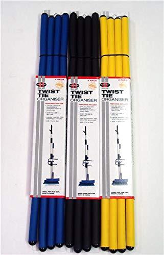 4Pk 18inch Twist Tie Organiser AUNGER BLU