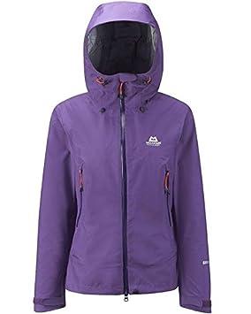 Mountain Equipment - Chaqueta impermeable mujer saltoro, talla xs, color lila