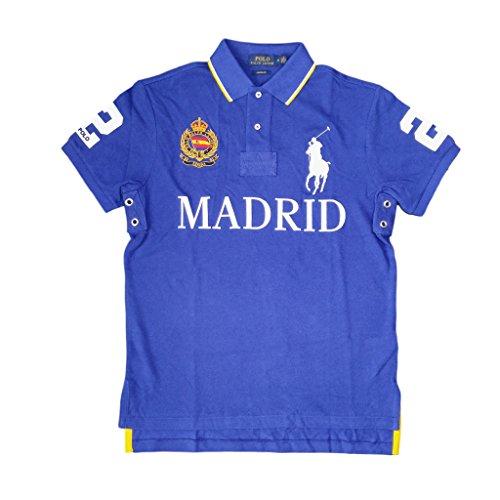(Polo Ralph Lauren Mens Custom Fit City Polo Shirt (M, Blue)