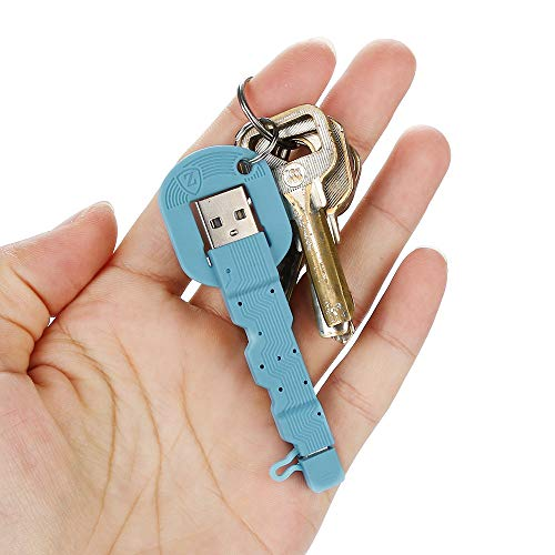 Clearance Sale!UMFun Mini Key Charger Cable Keychain Micro USB Sync Data Cord for Android phone (Blue) -