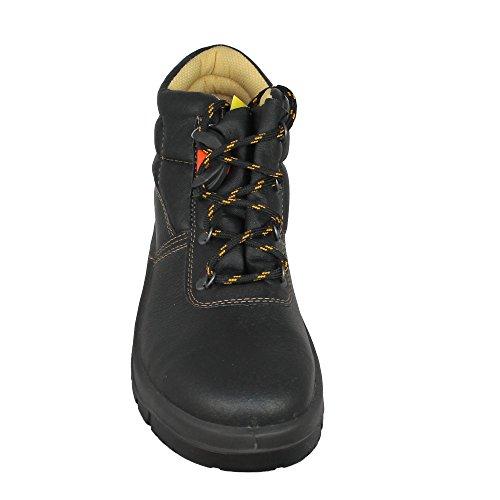 Edis - Calzado de protección de Piel para hombre Negro - negro