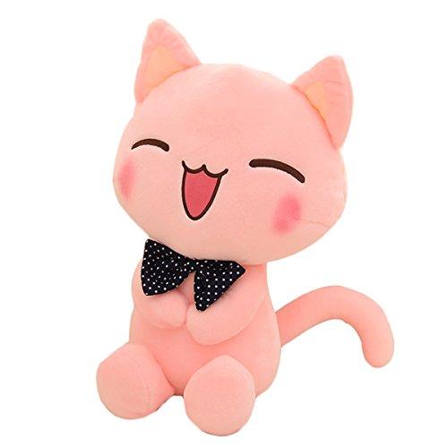 Levenkeness Stuffed Animals Cat Plush Doll, Cute Pink Kitten Stuffed Toys Girls 11