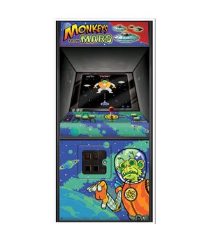 Arcade Game Door Cover Party Accessory (1 count) (1/Pkg) -