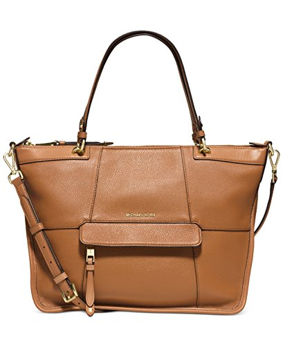 Michael Kors Women's Jesse Satchel Bag, Luggage Brown Leather, - Cleaner Kors Michael