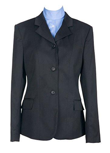 (Devon Aire Kids Nouvelle Stretch Show Coat, Black, Size 14)
