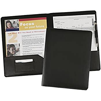 Amazon.com : Leather Resume Portfolio Presentation Folder Document Binder Report Cover Pad folio