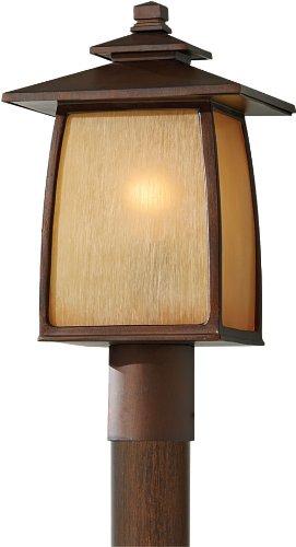 (Feiss OL8508SBR Wright House Outdoor Post Lighting, brown, 1-Light (9