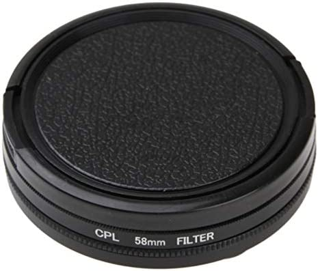HUIFANGBU 58mm Round Circle CPL Lens Filter with Cap for GoPro HERO5 Session //HERO4 Session//Hero Session