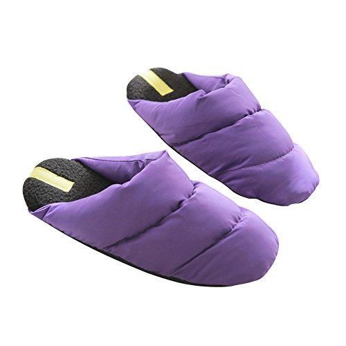 Hevinle Impermeabile Termico Lavabile Casa Donne Pantofole Viola