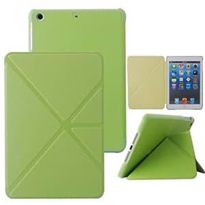 iPad Mini Case, iPad mini 2/3 Case - VAMVAZ Multi Fold Origami PU Leather Smart Stand Folio Case Cover For iPad Mini 7.9 Inch iPad Mini 2 /3 Retina Display (Green)