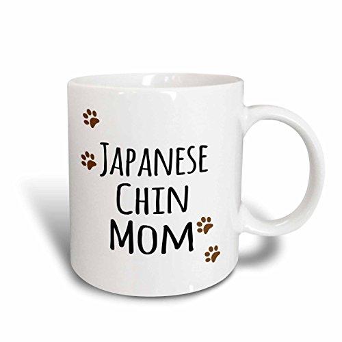 3dRose 154142_5 Japanese Chin Dog Mom Mug, 11 oz, Red
